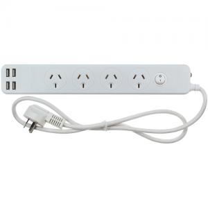 Jackson 4 Outlet Surge Protected Powerboard