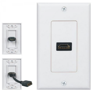 HDMI x 1 Pigtail Power Point Wall Plate
