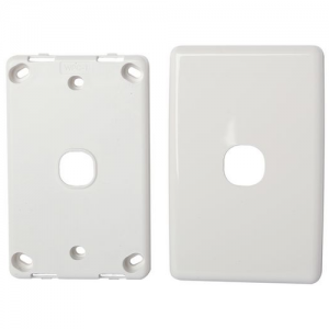 White Blank Wall Plate Single Insert