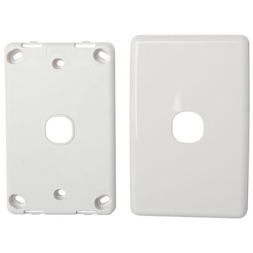 White Blank Wall Plate Single Insert